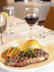 A New York strip steak at Terrace on the Hudson in