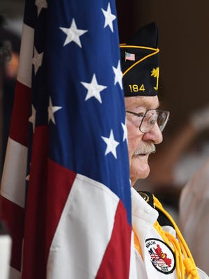 Memorial Day service at Richard Campbell Veterans Nursing Home Monday, May 28, 2018.