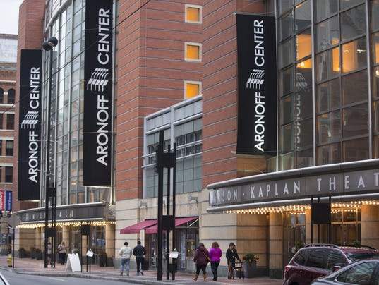 February 25, 2017: Aronoff Center, theatre, downtown Cincinnati, Stanley Aronoff, Liz Dufour