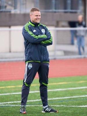 Darren Sawatzky, a former Major League Soccer player, interim head coach of the Matao.