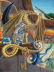 """The Key"" stars one of Carla Morrow's Steampunk dragons."