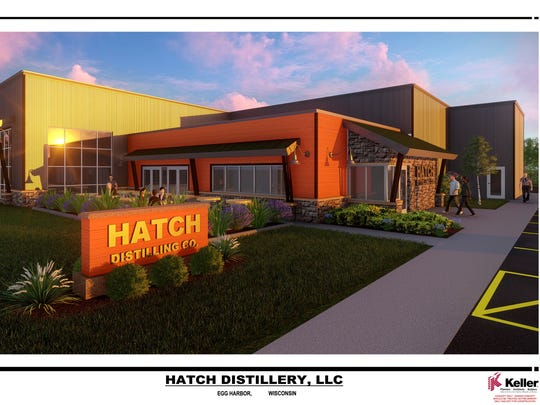 Architectural drawing of planned facility for Hatch Distillery, LLC, Egg Harbor