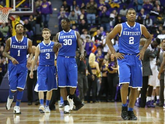 USP NCAA Basketball_ Kentucky at Louisiana State