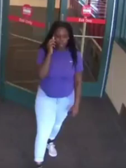 Woman wanted for shoplifting seen on surveillance video