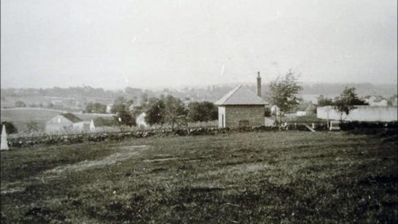 View northward from East Cemetery Hill. LoC.
