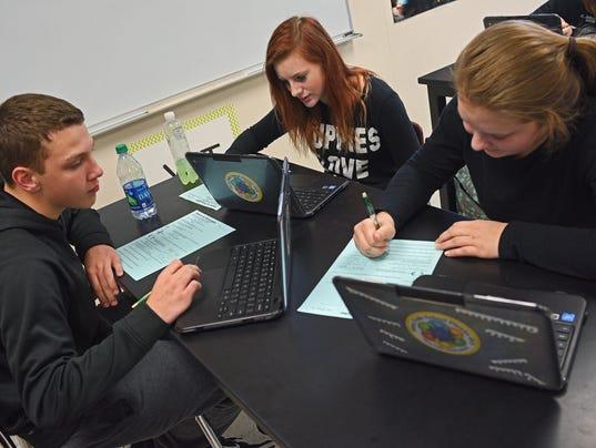 Roosevelt High School Science Class