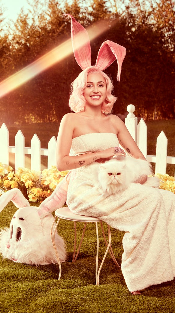 Miley Cyrus's Easter 'Vogue' photoshoot.