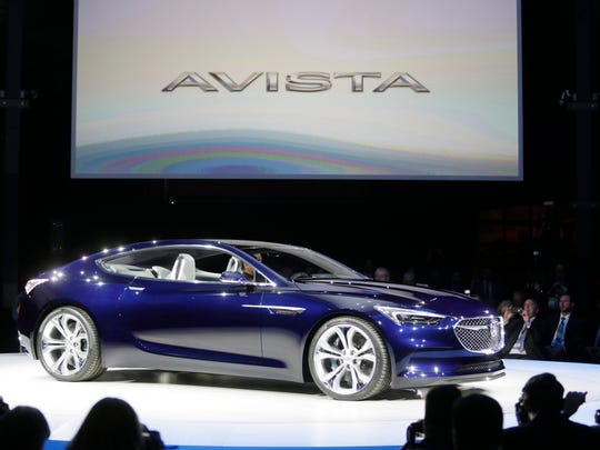 The Avista concept is revealed at the Buick display in Detroit's Eastern Market to help kick off the 2016 North American International Auto Show Sunday Jan.10, 2016. Mandi Wright/Detroit Free Press