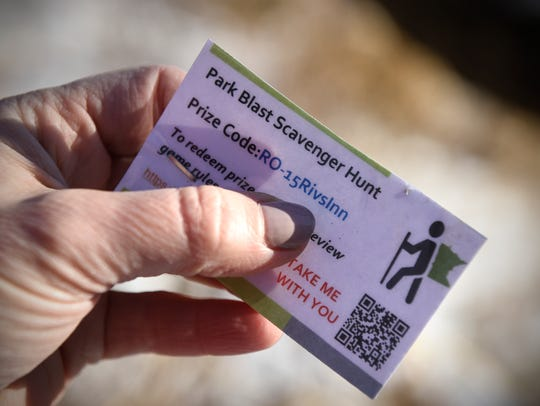 a Park Blast Scavenger Hunt ticket is found at Rockville