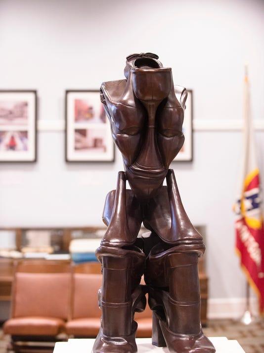 The Worrier Sculpture