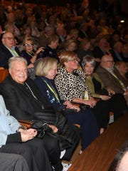 Philanthropist Harold Matzner, left, was among those
