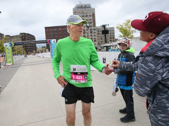 Bill Lamers overcame a torn retina months ago to continue training for his first marathon.