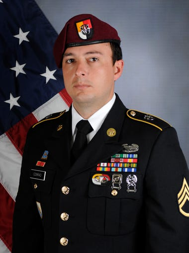 U.S. Army Staff Sgt. Alexander Conrad, 26, was among four people wounded June 8, 2018, in an attack by enemy troops in Somalia. Conrad died of injuries sustained from a mortar blast from al-Shabab militants, a terrorist group affiliated with Al Queda. He served as a noncommissioned human intelligence officer enlisted in the Army's 3rd Special Forces Group based in Fort Bragg, North Carolina. Conrad was an Arizona native and played football and soccer at Chandler's Hamilton High School. He was posthumously awarded the Purple Heart and the Meritorious Service Medal.
