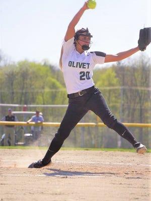Olivet softball player Jaclyn Groves
