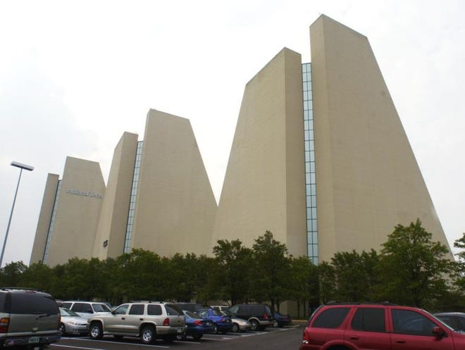 The Pyramids office buildings at 5300 DePauw Road on the Northwestside are an Indianapolis landmark.