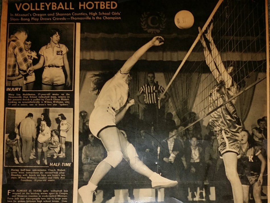 Wilma Ann Williams-Leach was a standout athlete growing up in Missouri. She was featured in many newspaper articles for volleyball and softball.