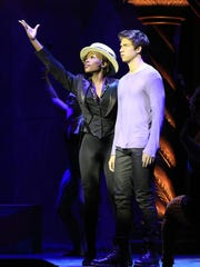 Pippin and the Leading Player in the show that will play this week at the Playhouse on Rodney Square.