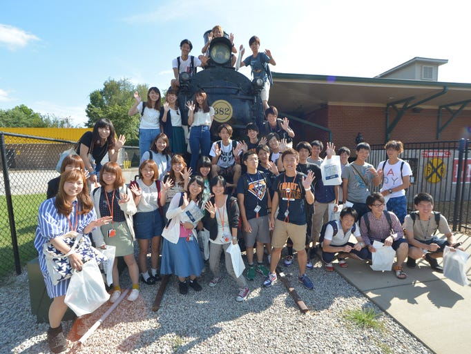 Casey Jones Home & Railroad Museum and Casey Jones Village welcomed a group of 32 Japanese students visiting through the University of Tennessee at Martin International Programs department Thursday. Students from Takasaki City University of Economics in Takasaki, Japan have been coming to the campus of the University of Tennessee Martin for several years for a three week program to enhance their English skills and to learn about the culture, history and economics that influence the area and region.
