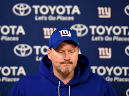 New York Giants head coach Ben McAdoo during a press