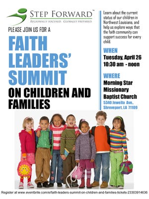 Step Forward will convene an important community-wide event – the Faith Leaders' Summit on Children and Families at 10:30 a.m. April 26.