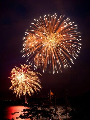 Fireworks are a brilliant finale to Fourth of July festivities in communities all over the USA. [Wicked Local File Photo]