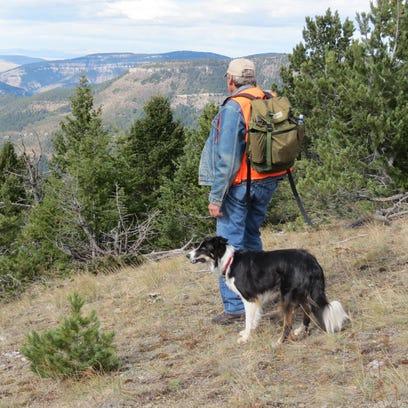 Dave Wilsey hikes in the Deep Creek Roadless Area in