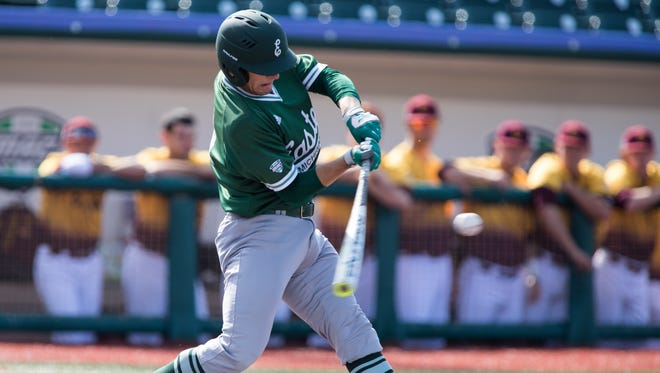 Eastern Michigan University freshman infielder and Lakeview High School graduate Nick Jones was named to the 2017 Mid-American Conference All-Tournament Team.