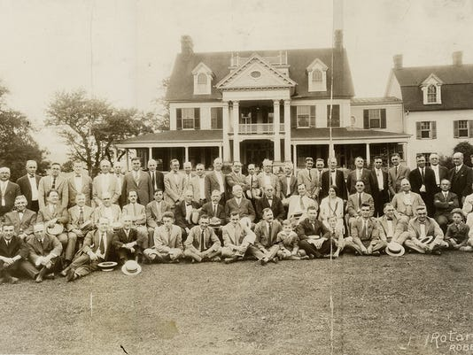 In the past 100 years,York Rotary occasionally has left its Yorktowne Hotel home for meetings and outings around the community. Here, we see Rotary Day at Harold and Thelma Robertson's farm, now Meadowbrook/Christmas Tree Hill in Springettsbury Township, on June 24, 1925.