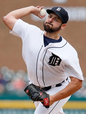 Tigers pitcher Michael Fulmer throws against the Tampa Bay Rays during the first inning at Comerica Park on Saturday.