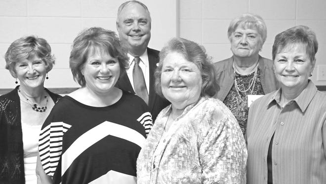 The San Angelo Retired Teachers & Associates (SARTA) held its September meeting with State Representative Drew Darby. Pictured (from left to right) are: President of District XV TRTA Lynn Granzin, Second Vice President Christy Vanoss, State Representative Drew Darby, First Vice President Wanda Holik, SARTA President Baynes Hobbs and Treasurer Sue Taylor.