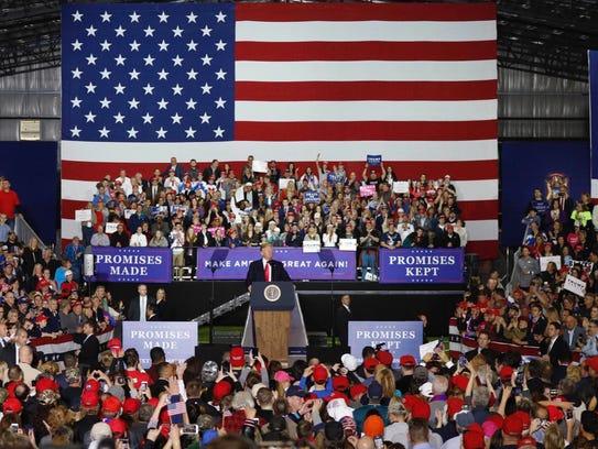President Donald J. Trump speaks during Make America