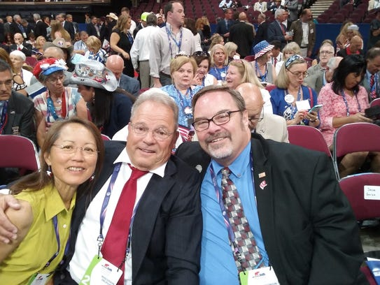 The three 6th Congressional District delegates, from
