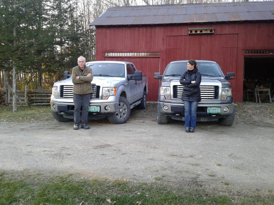 Neighbors Jeremiah Parker and Anne DeHaven of Shoreham, Vermont each own F-150 pickup trucks. He is a retired contractor. She manages a horse farm.