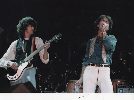 Paul Rodgers (right) sang with Led Zeppelin legend Jimmy Page in the band, The Firm