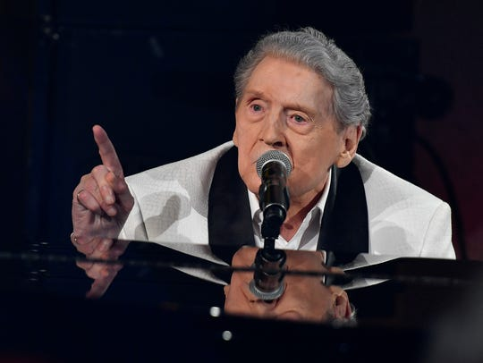 Jerry Lee Lewis performs at the tribute in his honor