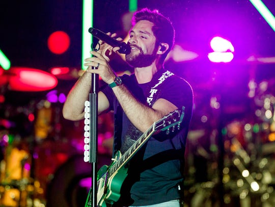 Thomas Rhett, a country singer from Nashville, Tennessee,
