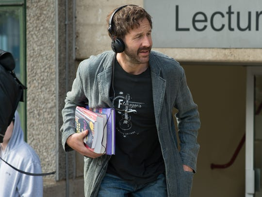 """Duncan (Chris O'Dowd) teaches at a college in """"Juliet,"""