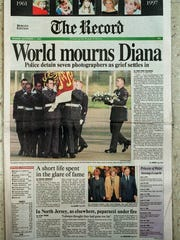 FRONT PAGE OF THE RECORD: THE DEATH OF PRINCESS DIANA.