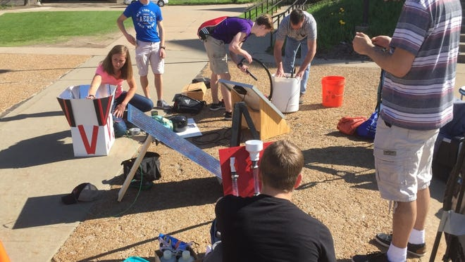 Students compete at Wisconsin Public Service's 22nd annual Solar Olympics May 16 on the campus of the University of Wisconsin-Stevens Point.