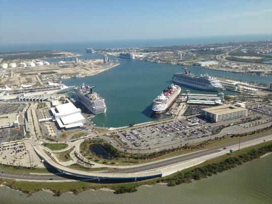 First Time Ever Six Cruise Ships Dock At Port Canaveral