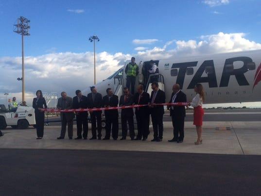 TAR Aerolineas inaugural flight