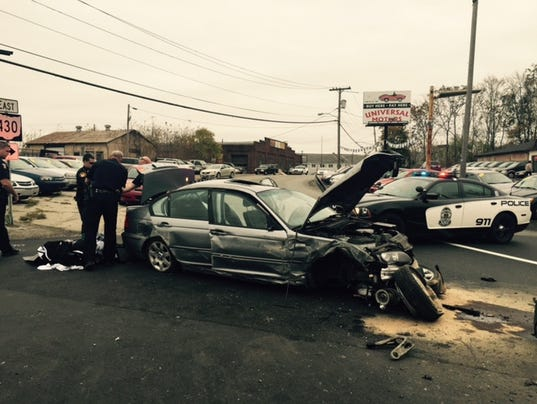 Pursuit of wanted man ends in crash, capture