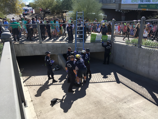 Man falls into drain at Waste Management Phoenix Open