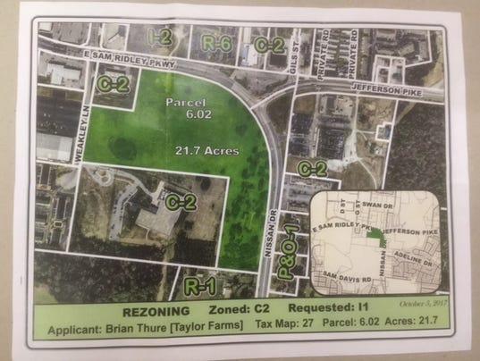 Taylor Farms rezoning