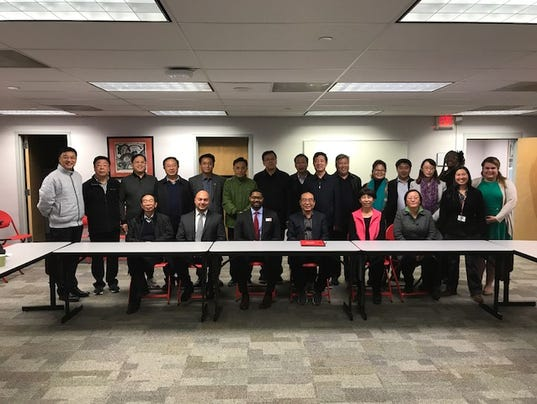 Education leaders from China visit college PHOTO CAPTION