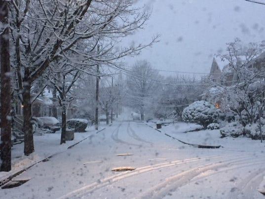 Snow in Bogota on April 2