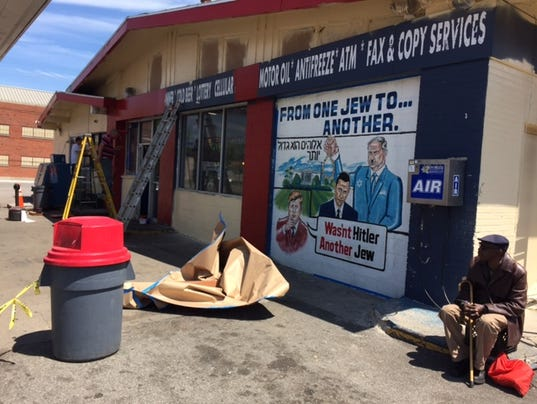 Gas station causing controversy with latest mural for Cleveland gas station mural