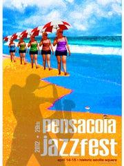 Suzanne Tuzzeo's 2012 JazzFest poster