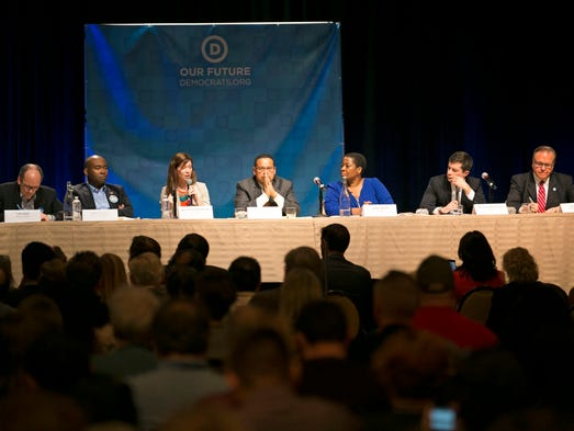 Democratic National Committee chair candidates speak