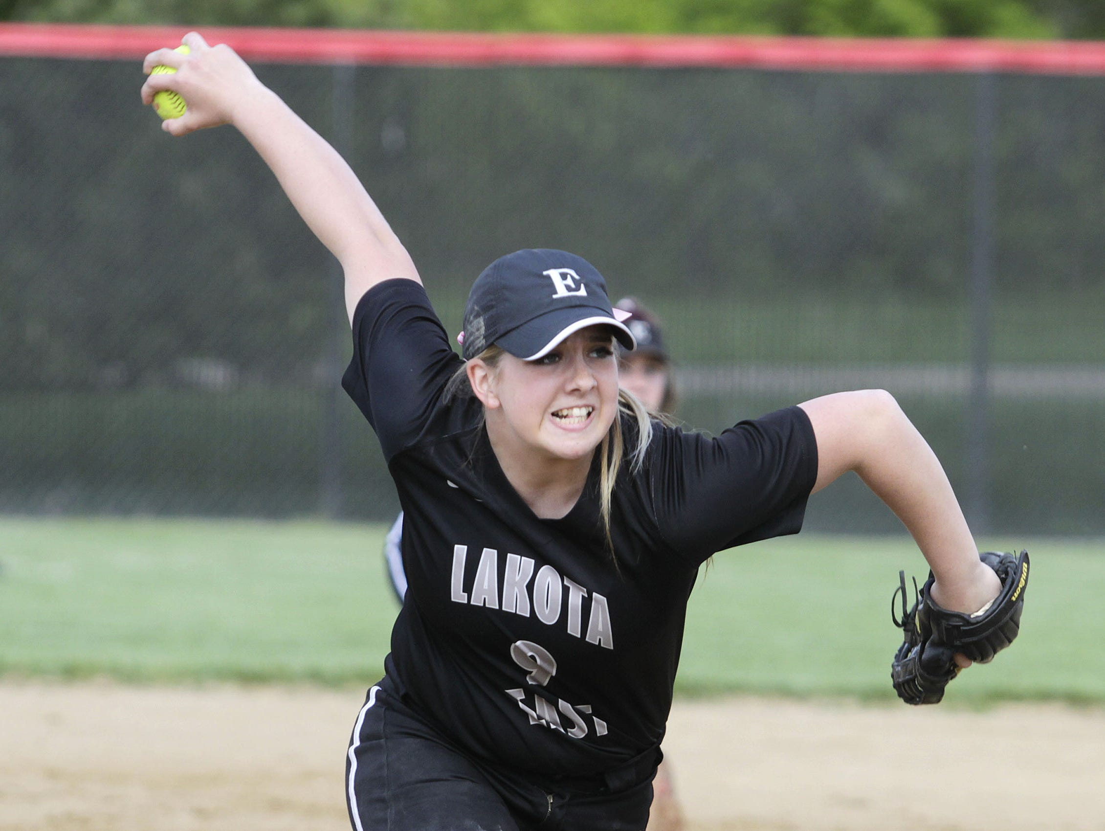 Lakota East's Kianah Towe threw a complete game shutout in a 3-0 win over Centerville in a Division I sectional final Tuesday.